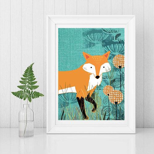 PACK of 2 Fox Print