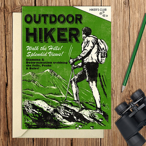 Outdoor Hiker Card
