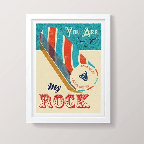 PACK of 2 My Rock Print