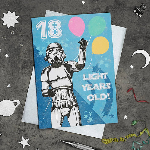 PACK of 6 Stormtrooper 18th Birthday Card