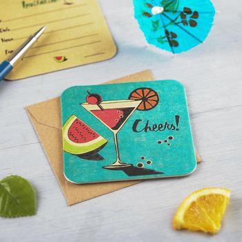 Martini Coaster Party Invite