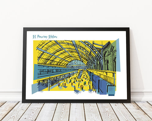 St Pancras Station London Print