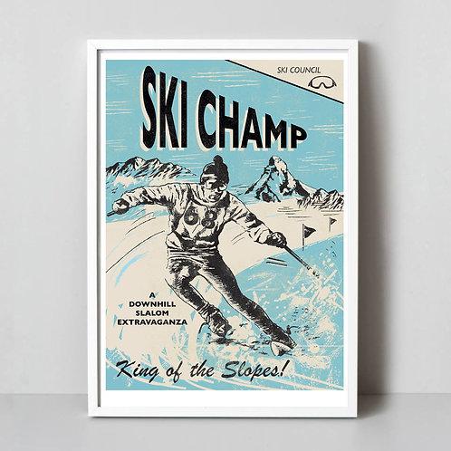 PACK of 2 Ski Champ Print