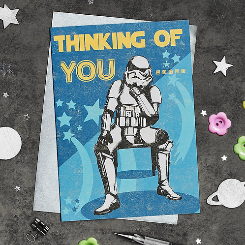 THINKING OF YOU Stormtrooper Greetings Card