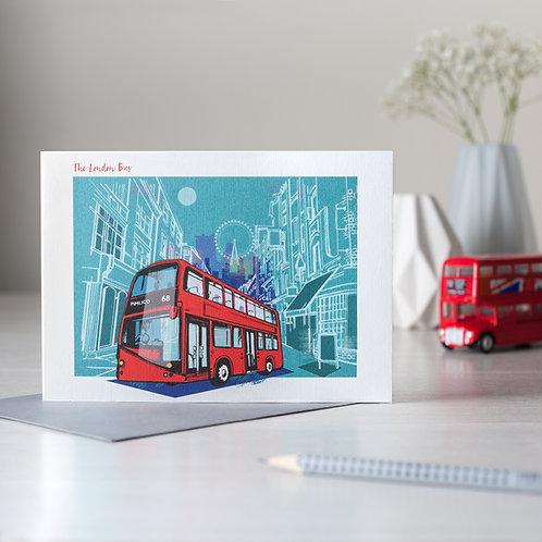Classic London Bus Card