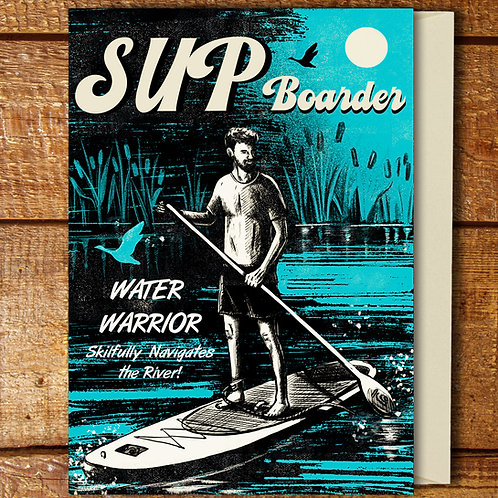PACK of 6 Paddle Boarder Card