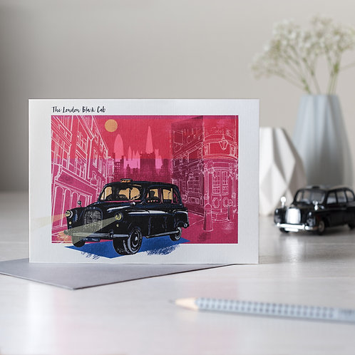 PACK of 6 Classic London Black Cab Card