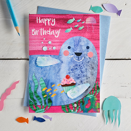 Seal Happy Birthday Card