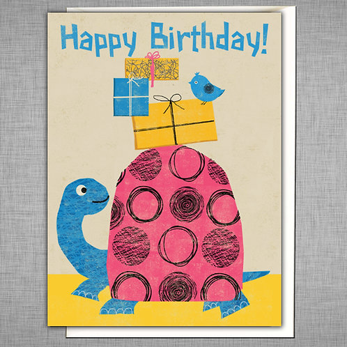 PACK of 6 Tortoise Birthday Card