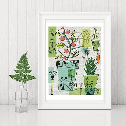 PACK of 2 Modern Plant Print