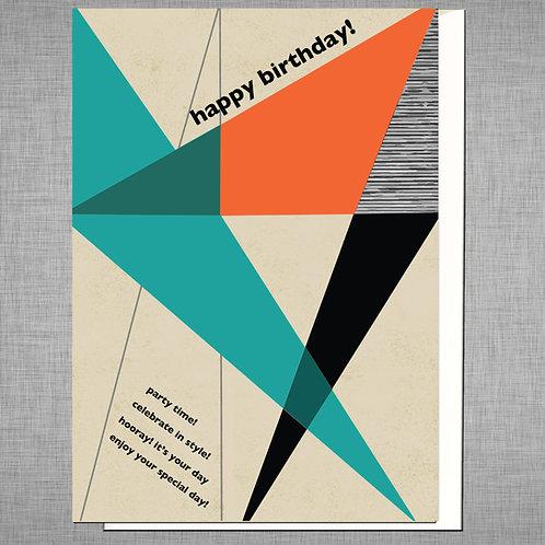 Diagonal Geometric Card