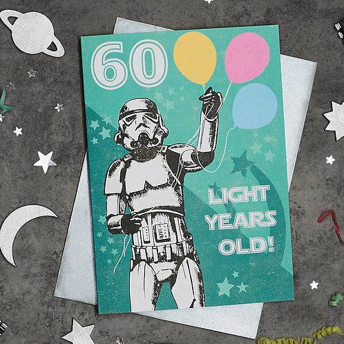 Stormtrooper 60th Birthday Card