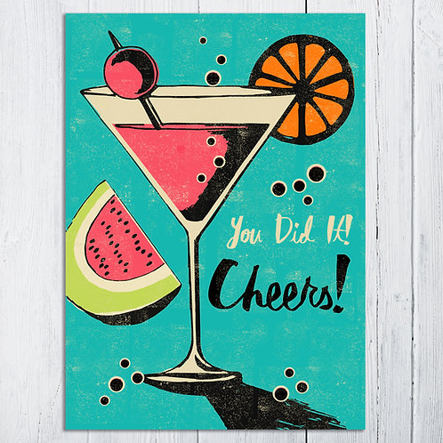 PACK of 6 Cocktail Card