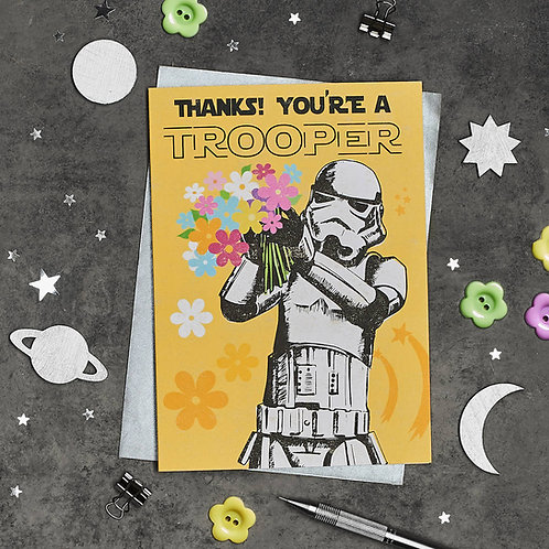PACK of 6 Stormtrooper Thank You Card
