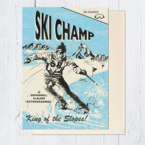 PACK of 6 Ski Champ Card