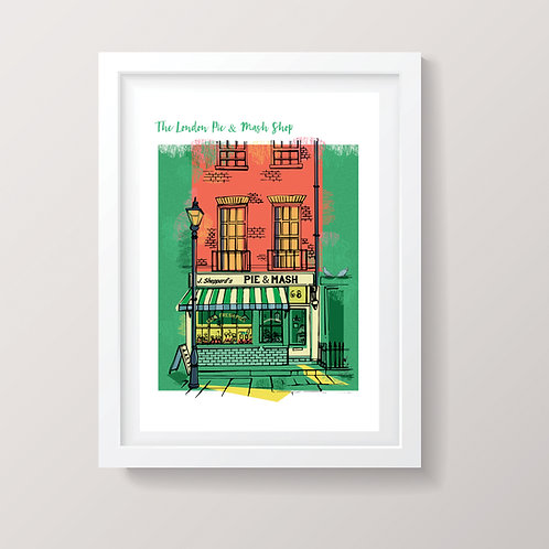 The London Pie and Mash Print