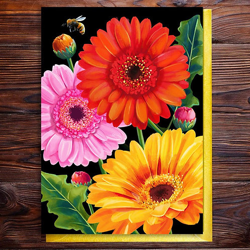 Bright Gerberas Blank Card