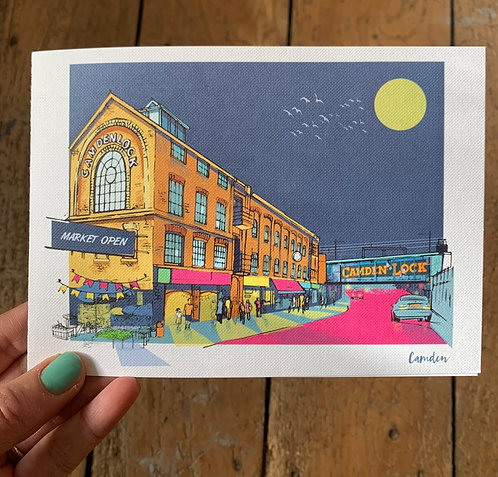 PACK of 6 Camden London Card