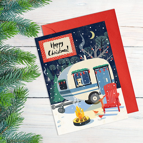 Cosy Caravan & Dog Card