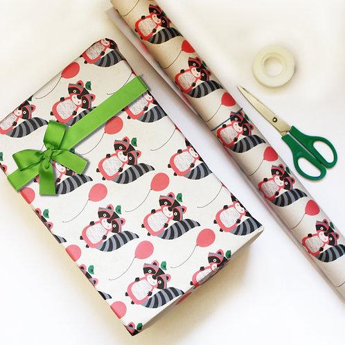 Raccoon Gift Wrap