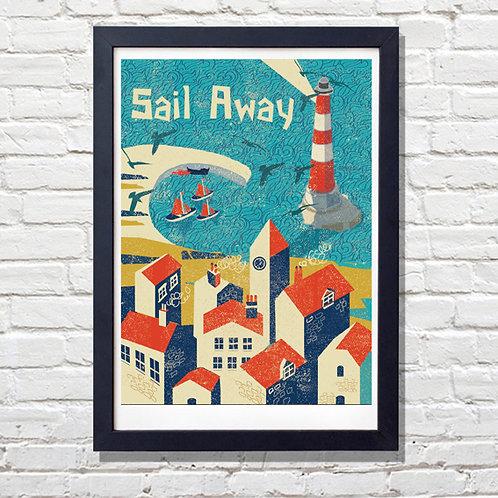 PACK of 2 Sail Away! Print