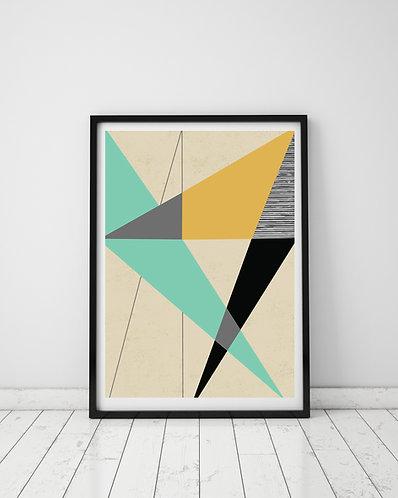 PACK of 2 Diagonal Geometrical Print