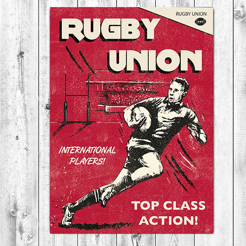 PACK of 6 Rugby Union Card
