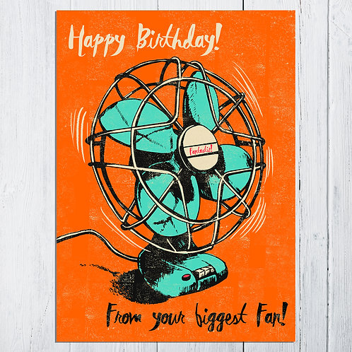 PACK of 6 Big Fan! Birthday Card