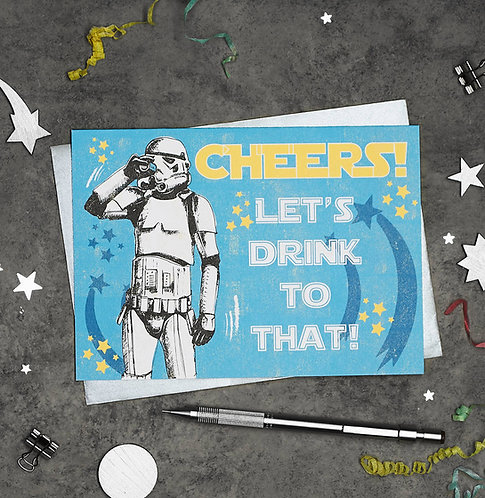 PACK of 6 Stormtrooper Cheers Congratulations Card
