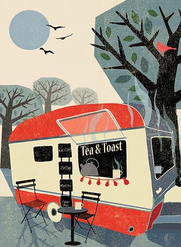 Tea and Toast Van Card
