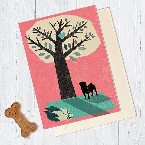 Pug Dog Card