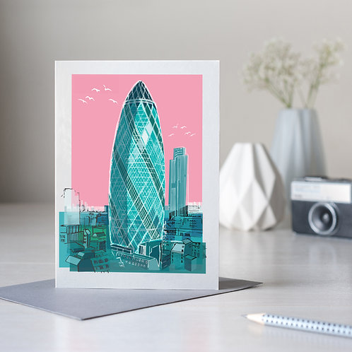 PACK of 6 The Gherkin London Card