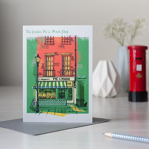 The London Pie and Mash Shop Card