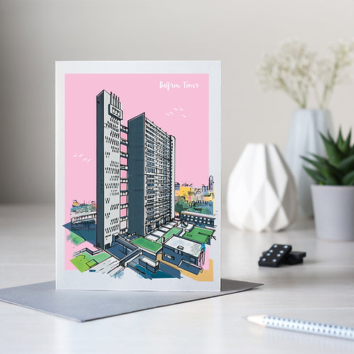 PACK of 6 Balfron Tower Card