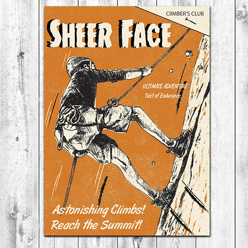 Sheer Face Climbing Card