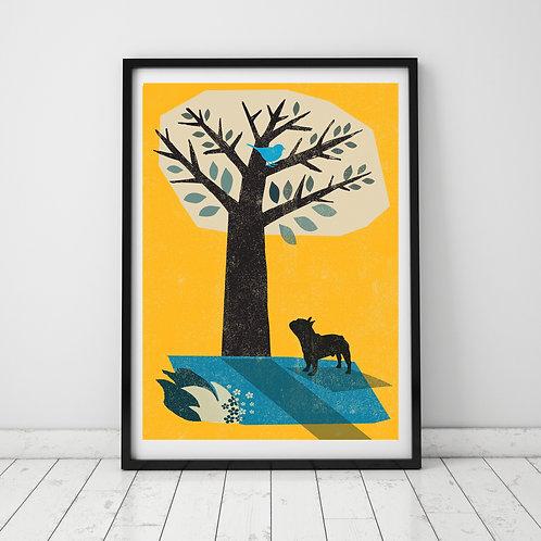 French Bull Dog Print