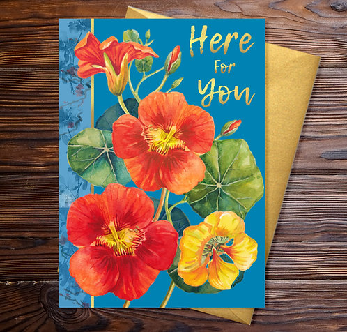 Here for You Summer Nasturtiums Card