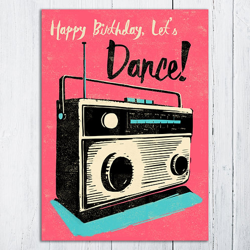 PACK of 6 Lets Dance! Birthday Card