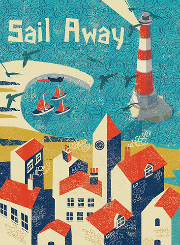 PACK of 6 Sail Away Cards