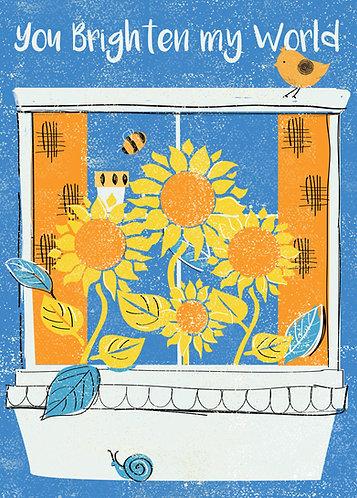 You Brighten My World! Card