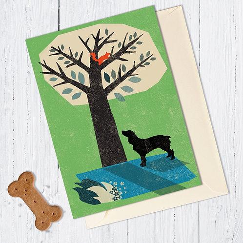 Springer Spaniel Dog Card