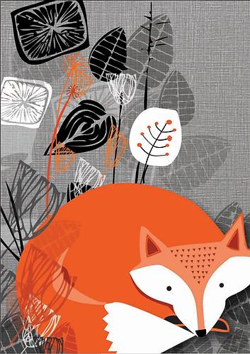 PACK of 6 Fox Greetings Card
