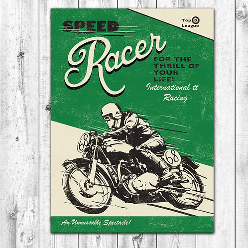 PACK of 6 Racer Card