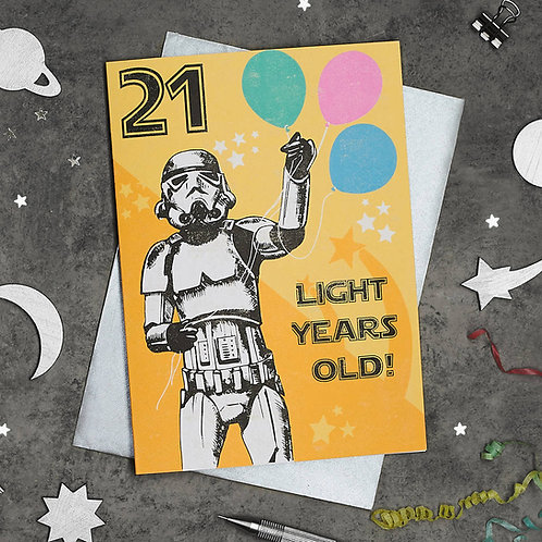 PACK of 6 Stormtrooper 21st Birthday Cards