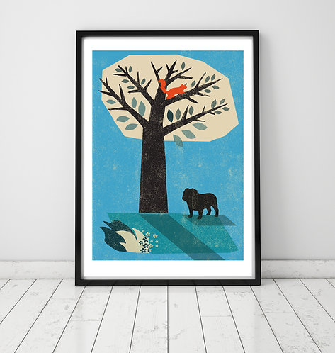 British Bull Dog Print