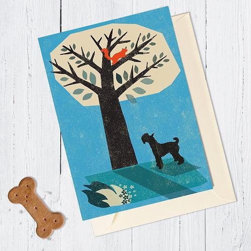 Schnauzer Dog Card