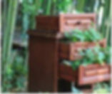 Бамбук Хутор reuse клумба из комода