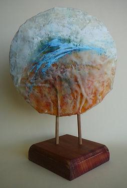 sculptural form  encaustic water movement
