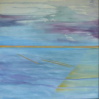 abstract blue painting Flight