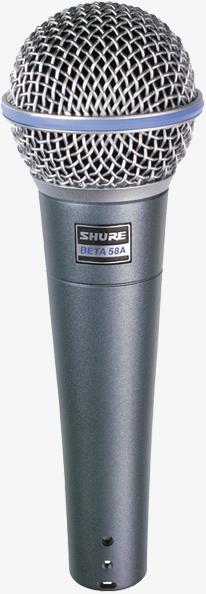 Shure BETA58A Micro vocal dynamique super cardio